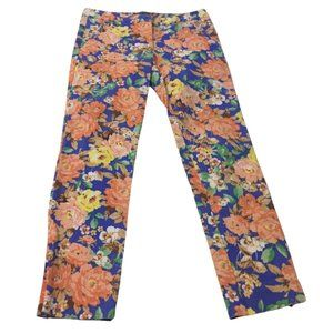 SHEIKE floral jeans sz 10 ankle zips high waisted